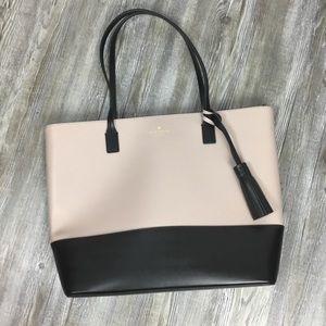 Kate Spade Karla Tote Light Blush Pink and Black